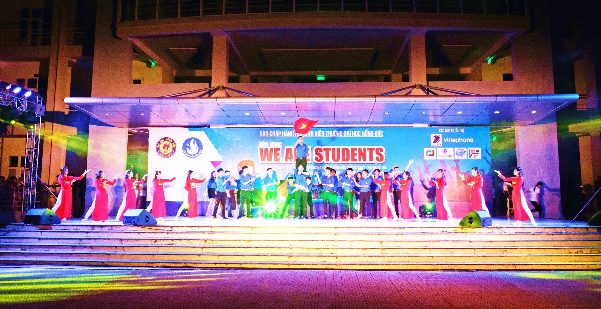 """Đêm nhạc """"We are students"""" chào đón tân sinh viên,  chào mừng năm học 2018 – 2019"""